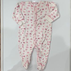 Baby Steps Letter Snap Front Onesie